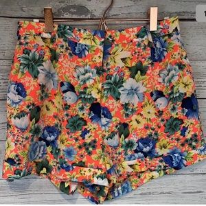 Topshop size 8 shorts tropical flower print